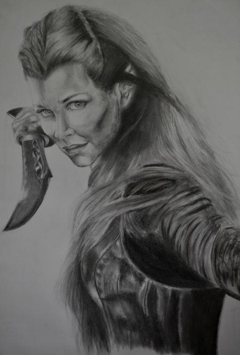 Evangeline Lilly by AnaPisichiuta